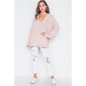 Leslie Knitted Sweater    Ballet Pink